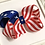 Thumbnail: Medium Patriotic Boutique Bow - Red, White and Royal Blue