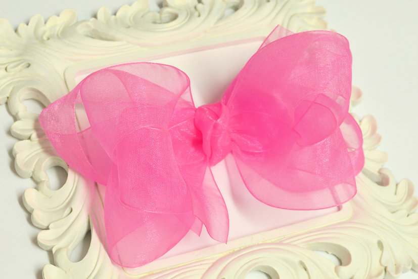 Extra Large Sheer Organza Boutique Hair Bow