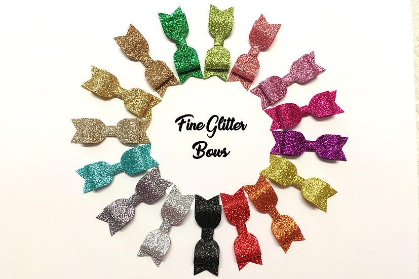 Fine Glitter Die Cut Hair Bows