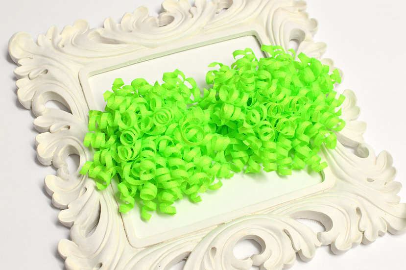 Key Lime Petite Korker Hair Bows - set of 2 neon lime bows