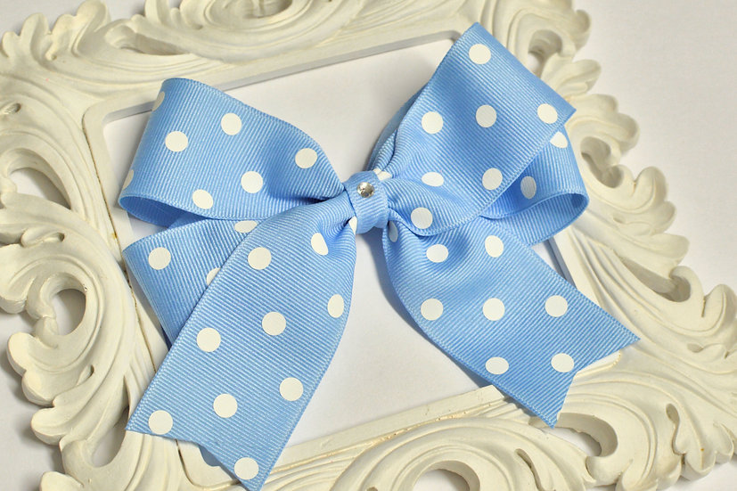 Large Polka Dot Tails Down Hair Bows