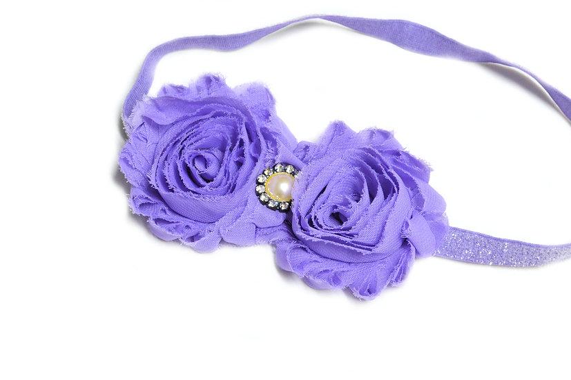 Lilac Double Flower Headband - Ready to Ship - rts1