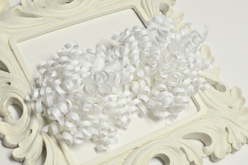 Solid White Petite Korker Hair Bows