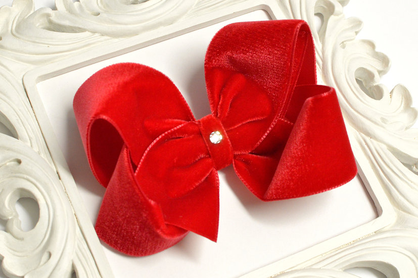 Large red Velvet Boutique Hair Bow