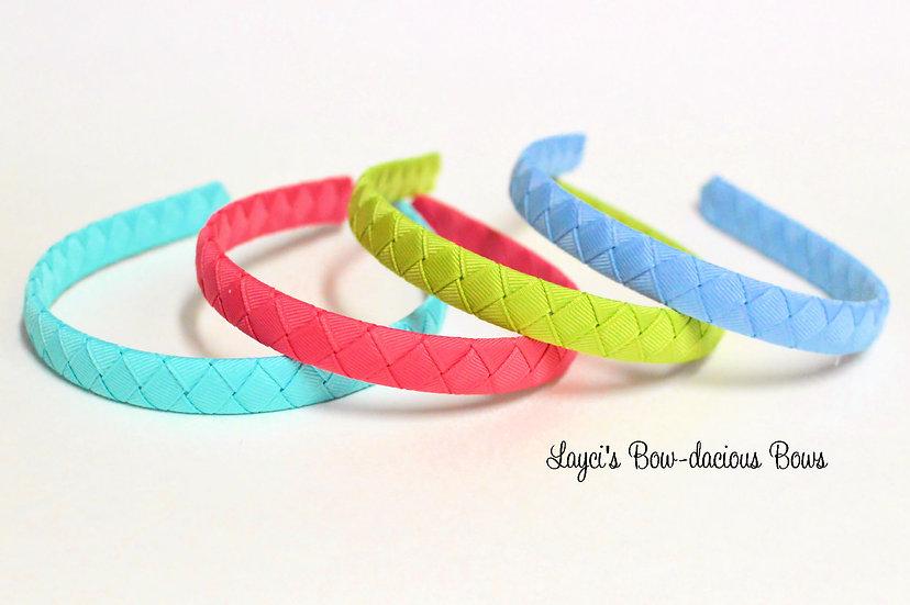 Solid Color Woven Headbands