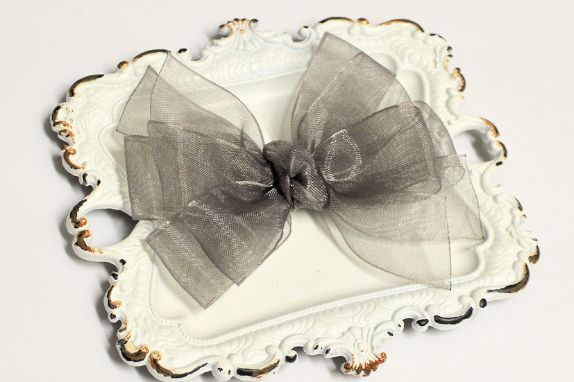 Medium Sheer Organza Pinwheel Hair Bows