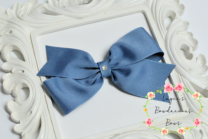 "Large Demi Pinwheel Hair Bows - 4.5"" bows"