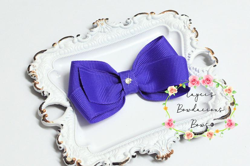 "Petite Medium Pinwheel Hair Bows - 3.5"" bows"