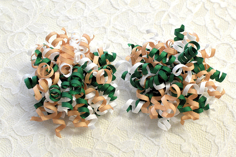 Green School Uniform Petite Korker Hair Bows
