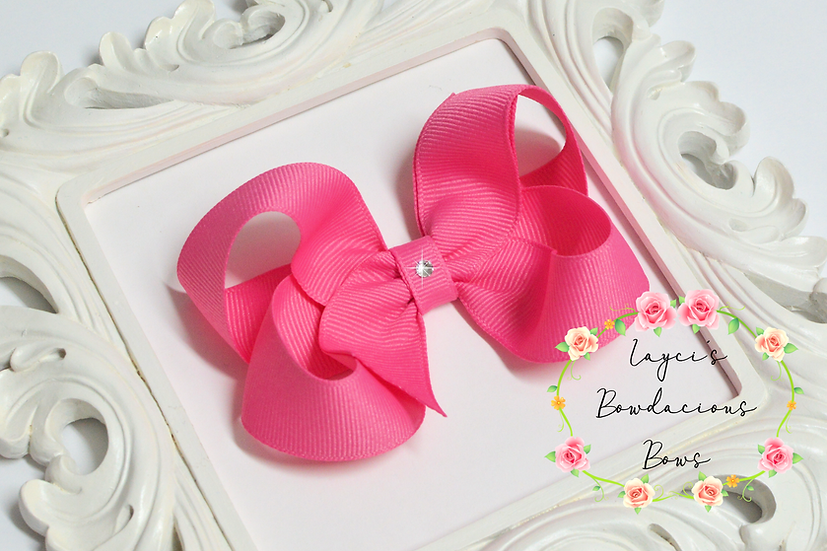 "Medium Boutique Hair Bows - 3.75"" bows"