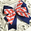 Thumbnail: Star Spangled Layered Tails Down Bow - medium - large - extra large
