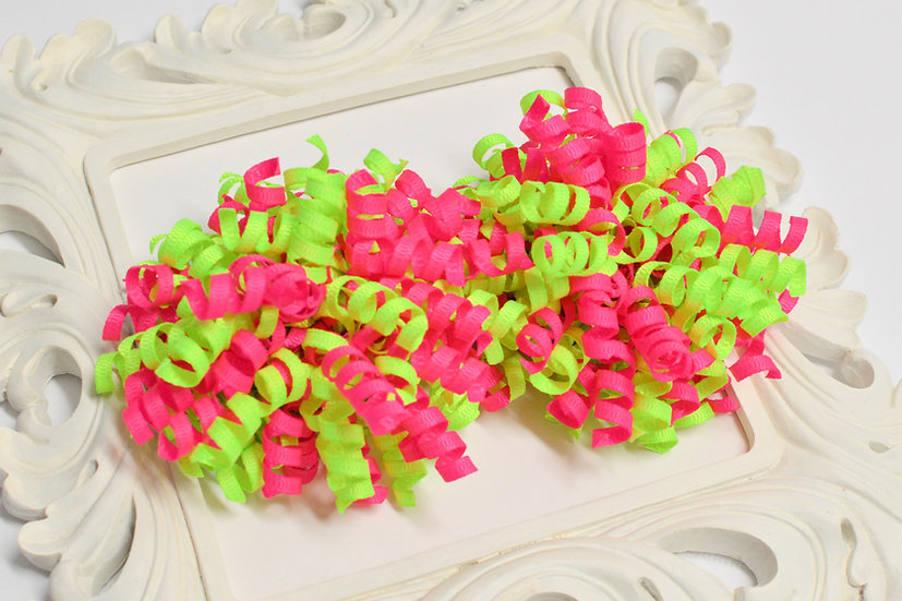 Beach Babe Petite Korker Hair Bows - set of 2 neon bows