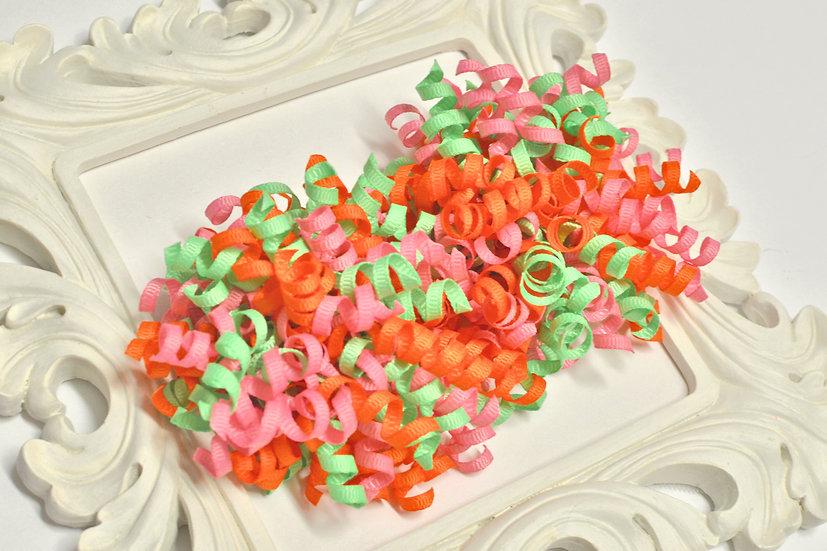Sherbet Sweetie Petite Korker Hair Bows - pink, mint, tangerine