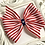 Thumbnail: Red and White Striped Pinwheel Bow - large, extra large