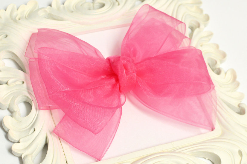 Extra Large Sheer Organza Pinwheel Hair Bow