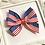 Thumbnail: Medium Flag Print Pinwheel Bow