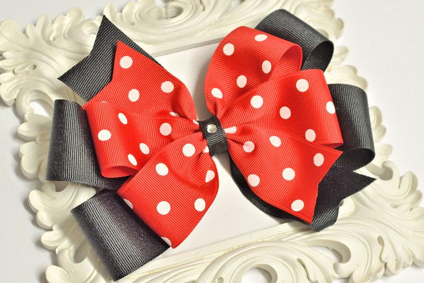 Extra Large Layered Pinwheel Polka Dot Hair Bow