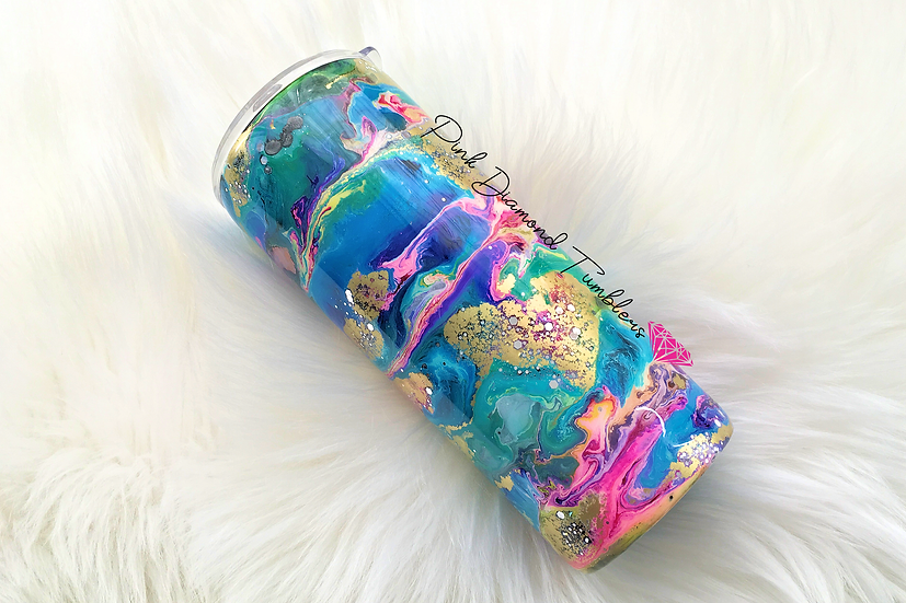 Color Me Beautiful Alcohol Ink Tumbler