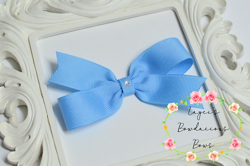 "Medium Demi Pinwheel Hair Bows - 4"" bows"