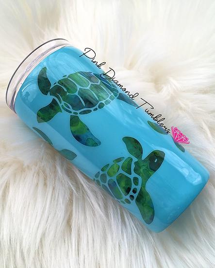 Peek-a-boo Sea Turtle Tumbler