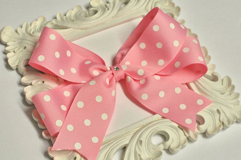 Extra Large Polka Dot Tails Down Hair Bows
