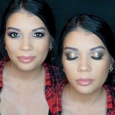 Still posting extravaganza makeup 💄 lol 😬😬🖤🖤!! 💜💚💛🤷🏻♀️🤷🏻♀️ a pretty gold glitter ✨ Smokey eye 👁!!