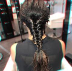 Inside out braid / faux fishtail briad