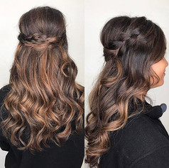 Braided / curled style
