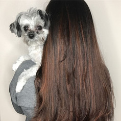 What's a hair picture without a cute fur baby 😍😍😍!