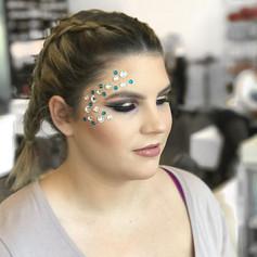 Mardi Gras makeup fun 💜💚💛😍! On my girl _lauram_robinson