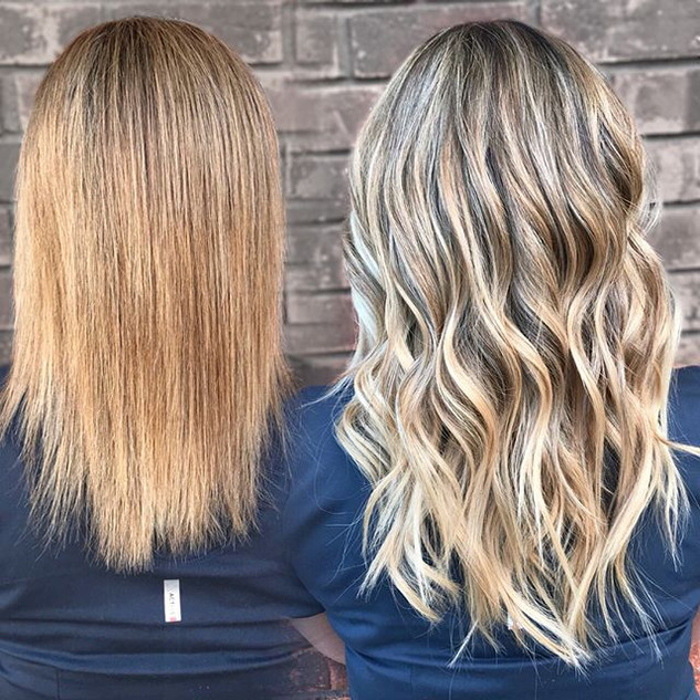 Before and after _hotheadshairextensions