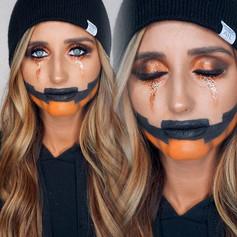 🎃🖤gangsta pumpkin 🖤🎃 finally got to do my girls makeup 🙌🏼_sweetlifeoftatumann 🤘🏼🤘🏼 used _ashleysievertbeauty foundation in LA and Paris !