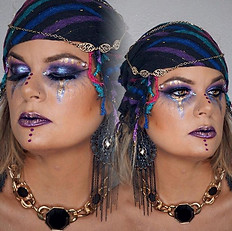 🖤🔮Captivating gypsy 🔮🖤 on the beautiful _bluehashtag ! The _stilacosmetics magnificent metal deff brought this look together ! 🌌
