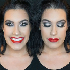 Same face two different lip colors and I love both of them 😍😍😍!!! _gabyburns killin it 🤩🤩🤩💋💋!!