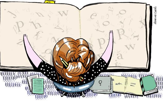 Ilustración para infografía '¿Qué estudian las mujeres?'