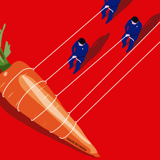 Ilustración de opinión 'China acosa a Taiwan'