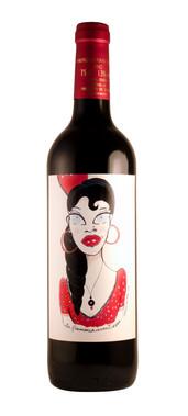 Etiqueta de vino 'la flamenca aventurera'