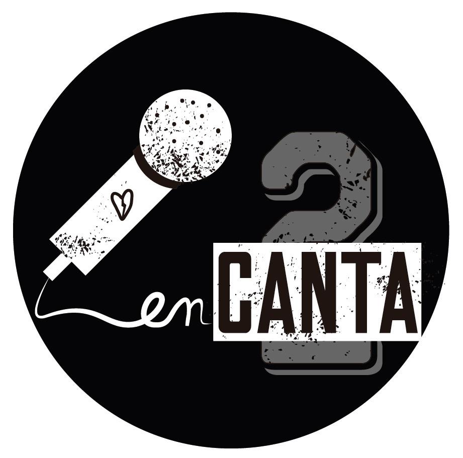 logotipo enCantados música street (versión redonda sobre fondo negro)