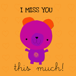 I miss you this much