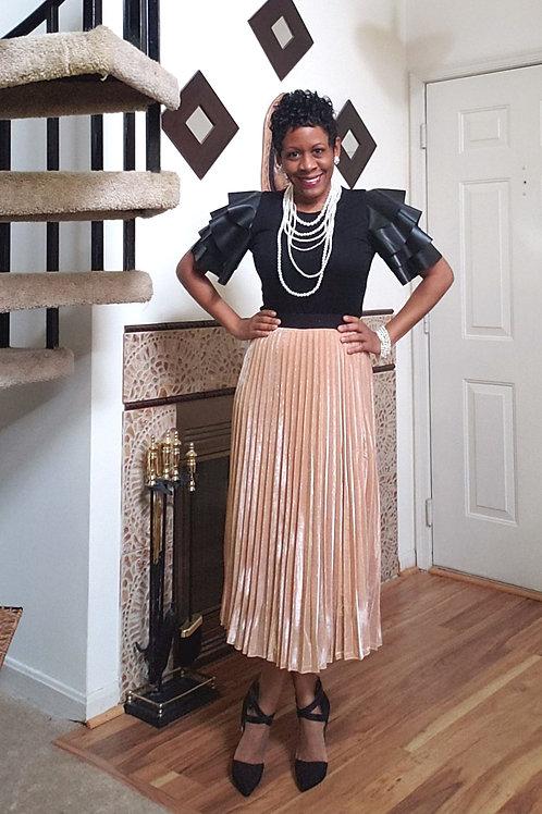 Peach Shimmer Skirt