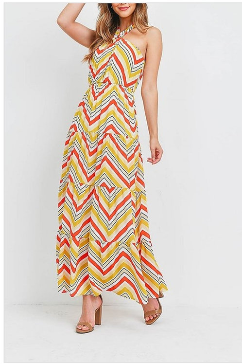 Gold and Red Maxi