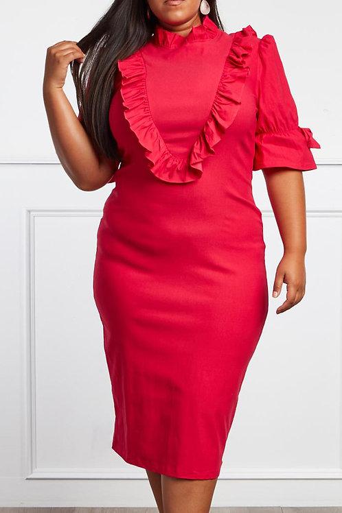 Pink Midi Dress (Curvy)