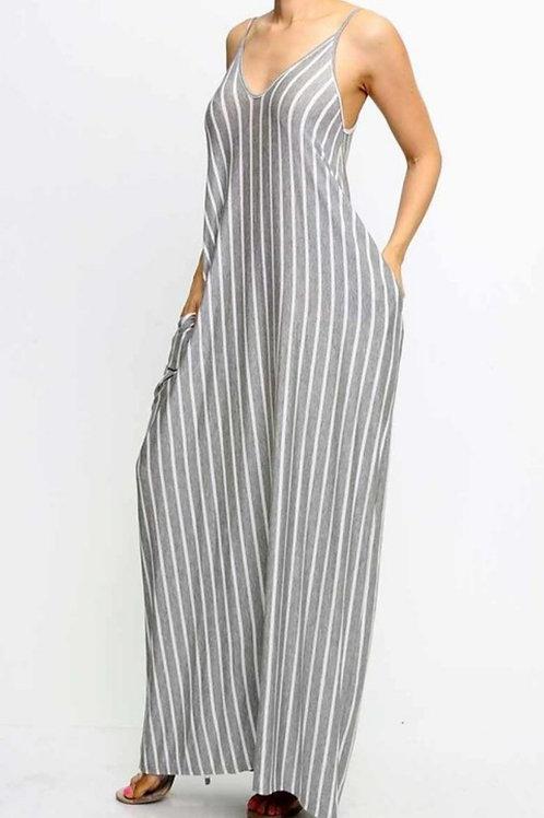 Grey Stripe Maxi