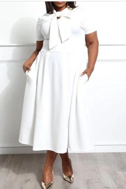 White Tea Party Dress