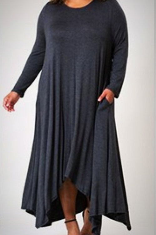 Gray Cleo Dress (Curvy)