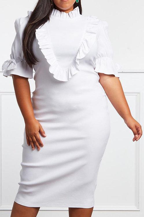 White Midi Dress Curvy.
