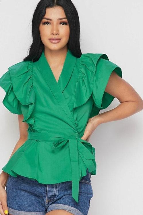 Sassy Green Top