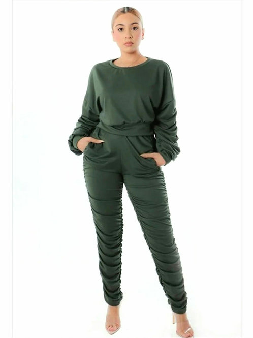 Olive Two Piece Jogger Set