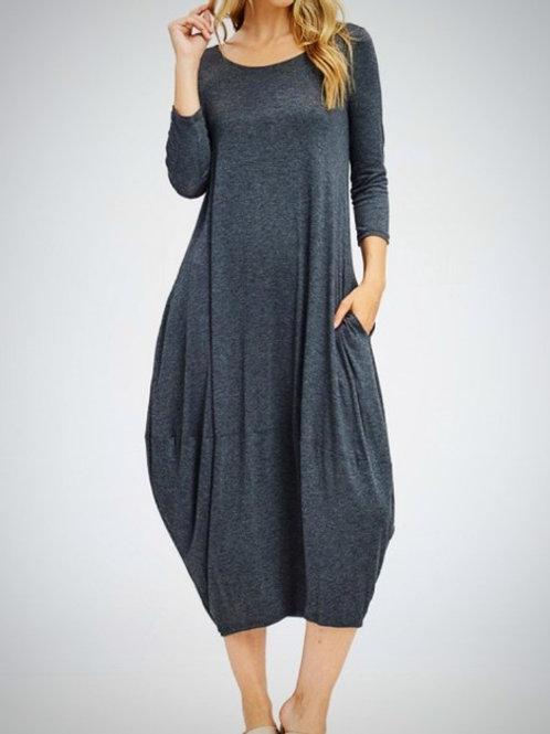 Emma Dress Grey