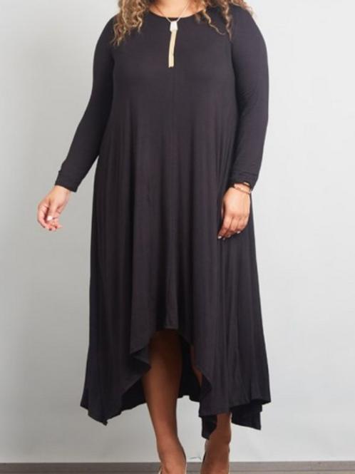 Black Cleo Dress (Curvy)